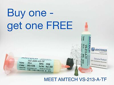 AMTECH NC-559-V2-TF no-clean tacky solder flux (ROL0) 30cc kit USA 16160UK