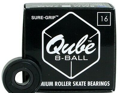 Qube 8-ball 7mm Premium Roller Skate Bearings 16 Pack