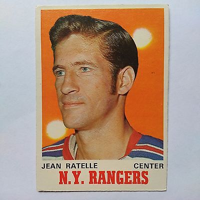 1970-71 OPC O-Pee-Chee #181 Jean Ratelle New York Rangers - EXMT/NM