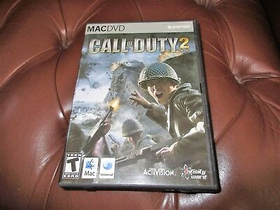 One   Call Of Duty 2   Mac  Dvd, Activision Apple  T Teen Video Game