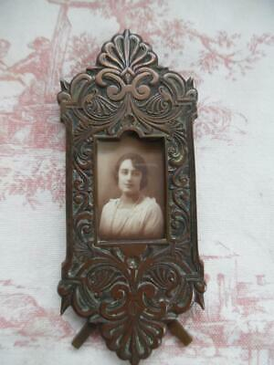 Superb Antique French Bronze Picture / Photo Frame - Petite