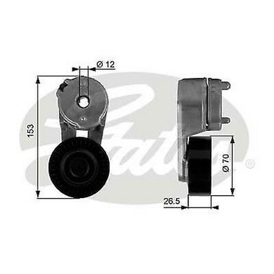 Gates T39118 Tensioner Pulley Ribbed Drive Belt