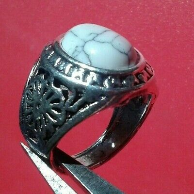 Rare Ancient Antique Ring Roman Silver Stunning Artifact Rare Type with Stone