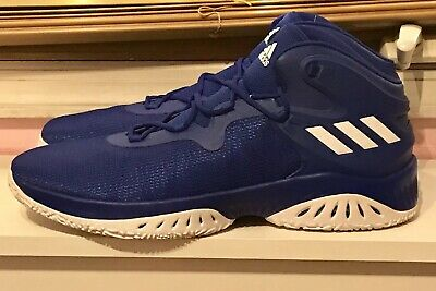 NEW ADIDAS ROYAL Blue White Crazy Bounce Basketball Shoes