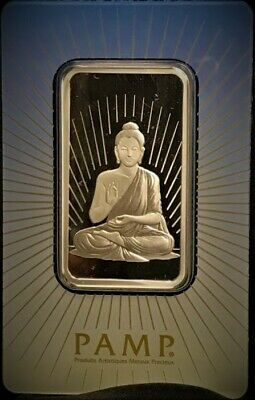 NEW PAMP SUISSE 1 OZ .999 SILVER BAR Religious Series Buddha