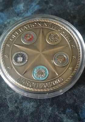 ☆ Operation New Dawn Commemorative Coin☆ March 20th 2003 ☆ ( Encased ) ☆