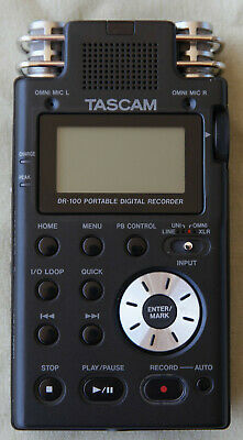 TASCAM DR-100 Portable Digital Recorder w/accessories **MINT**
