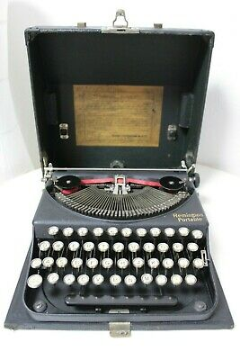 REMINGTON Portable - 1929 - Schreibmaschine typewriter antik vintage