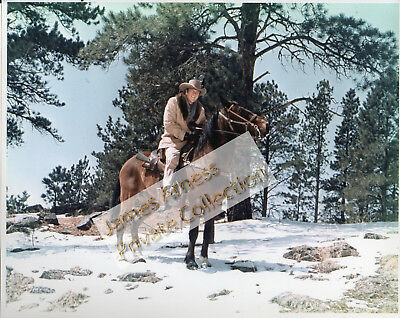 "James Arness Gunsmoke Marshal Dillon ""Snow Train""  Color 8 x 10"