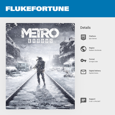 Metro Exodus PC - Epic Games Key (Worldwide)
