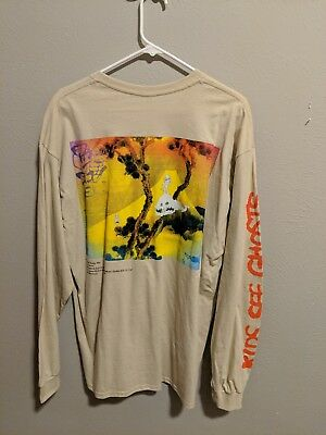 Kanye West & Kid Cudi 'Kids See Ghosts' Official Long Sleeve T-shirt *XL*