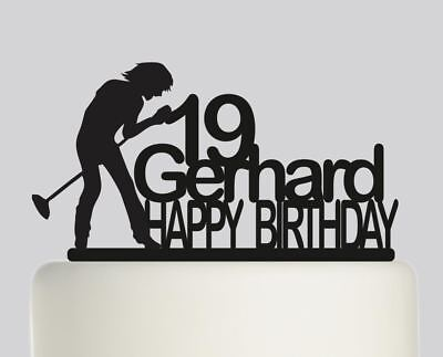 Male Singer Personalised Acrylic topper Birthday cake Topper.356