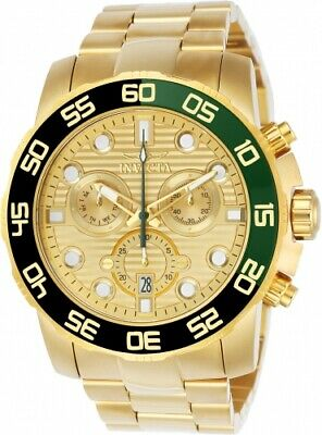 Invicta Men's 21554 Pro Diver Quartz Chronograph Gold Dial Watch