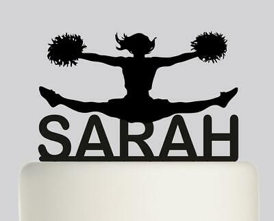 Cheerleader Personalised Acrylic topper Birthday cake Topper.301