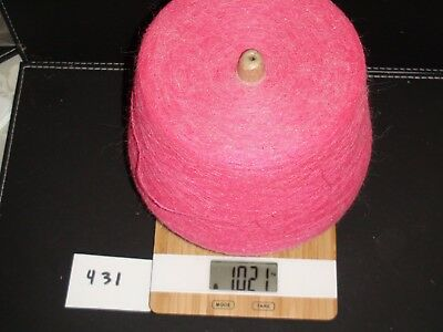 Knitting Machine Yarn On Cone 2 Ply Coral Angora Blend 1021G