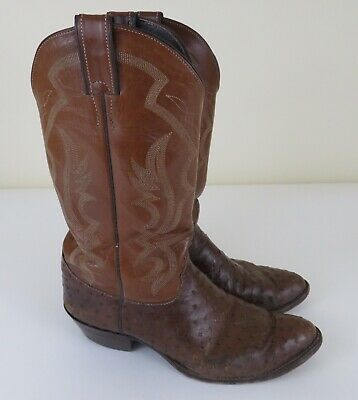 998c02190a3 JUSTIN FULL QUILL Ostrich Cowboy Boots Mens Size 9.5 D Style 8931 ...