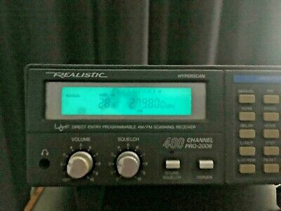Realistic PRO-2006 400 Channel 25Mhz - 1300Mhz Hyperscan Scanner
