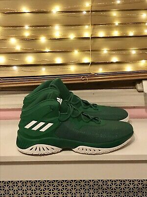 pretty nice 61a51 05d90 Adidas Kelly Green White Crazy Bounce Basketball Shoes Men s Size 17  Sneakers
