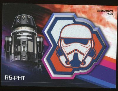 2018 Topps SOLO A Star Wars Story STORMTROOPER PATCH Card - R5-PHT