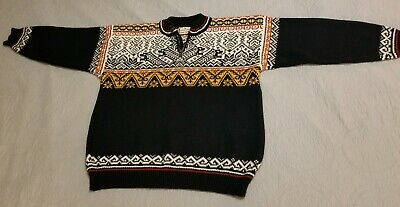 126abafe7e9 Vintage Dale of Norway Size L 100% Pure New Wool 1 4 Zip Sweater
