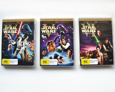 Star Wars Trilogy IV V VI - 2 DVD Rare Limited Original Theatrical Release Bonus