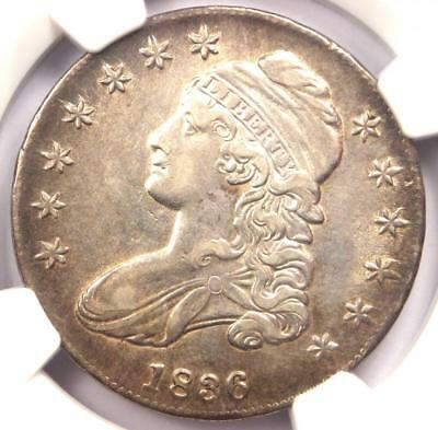 1836 Capped Bust Half Dollar 50C O-122 - NGC XF Details - Rare Certified Coin!