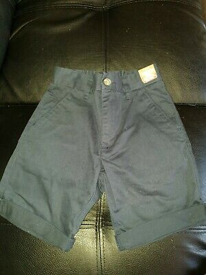 Bnwt Next Uk Boys Size 9 Years Blue Casual Wear Elasticated Chino Cotton Shorts