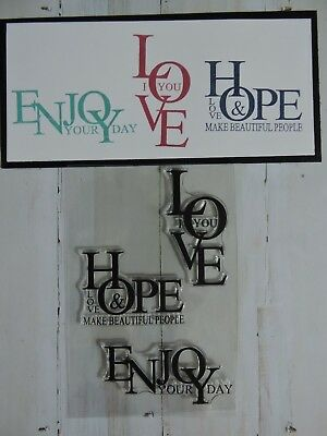 Clear Stamp set - Love,Hope and Enjoy