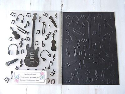 Embossing Folder -  Music Theme