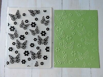 Embossing Folder   -  Butterfly and Flower Print