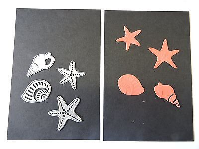 Craft Metal Cutting Die -- Sea Shells and Starfish Design