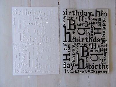 Embossing Folder   -  Happy Birthday