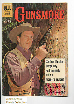 James Arness  Gunsmoke Marshal Dillon Sept 1960 Dell Gunsmoke Comic #22 Signed