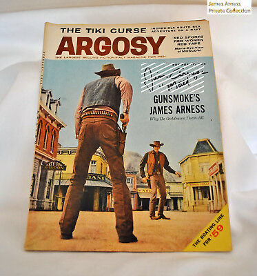James Arness  Gunsmoke Marshal Dillon ARGOSY Magazine 1959 Signed