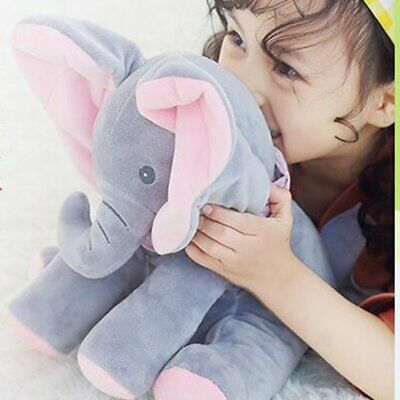 The Peekaboo Elephant, Interactive Plush Toy Sings & Plays Peek-A-Boo, Best Gift