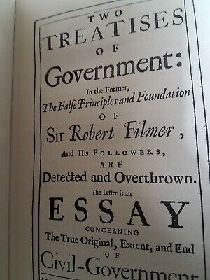 TWO TREATISES OF GOVERNMENT John Locke Special Leather Bound Hardback Edition NR