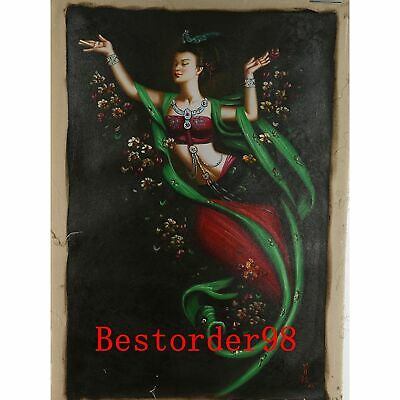 """Hand-painted Oil Painting On Canvas - Dunhuang Flying Beauty  36""""x24"""" dyh009"""