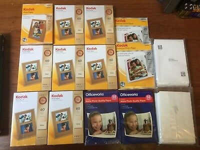 Kodak photo paper 6x4inch (10x15cm) Gloss BULK 750shts least couple of years old
