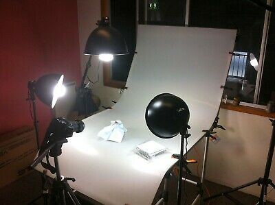 100cm x 200cm Photography S-Board Shooting Table Kit  Lights/Tent/Stands the lot