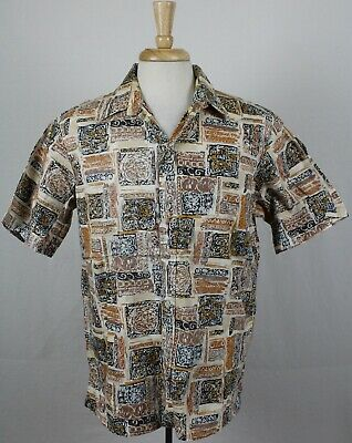 03a44f8f Cooke Street Vintage USA Made Reverse Print Abstract Hawaiian Shirt Mens  Large