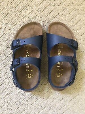 NEW Birkenstock Roma Sandals Kids Navy EU27