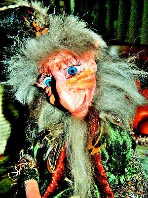 Branbria Wizards, Kitchen Witches & Fairies ~ Magical ~ OOAK Doll Hand Sculpture