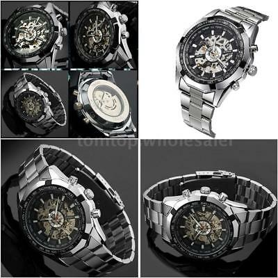 New! Two-Tone Automatic Mechanical Mens Winner Watch Dial Hand-winding Luxury