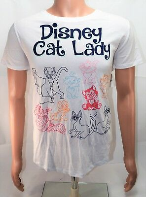 Disney Parks Exclusive 2018 Cat Lady White T Shirt Sz XXX Large XXXL NEW CUTE