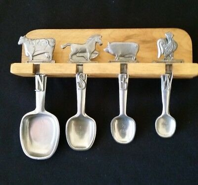 Seagull Pewter Canada 1996 Measuring Spoons Weather Vane Subject