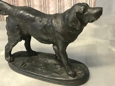 Old Vintage Art Deco Australian ? Spelter Retriever Dog Statue Sculpture Bronze?