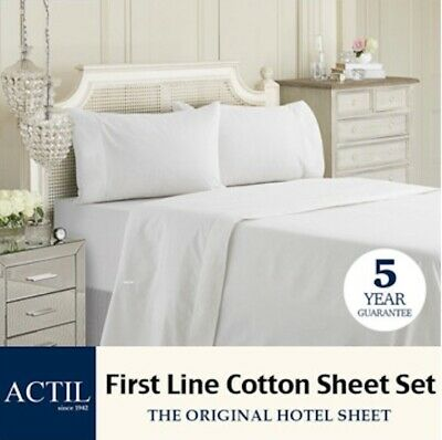ACTIL *GENUINE* First Line HOTEL QUALITY Cotton Sheet Set (*all sizes available)