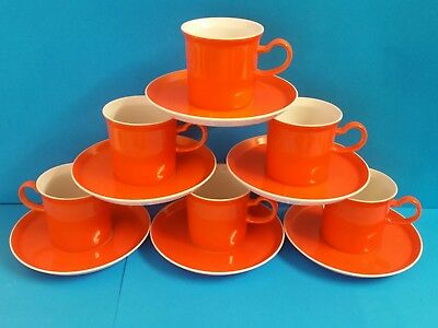 Vintage Gempo Fine China: Japan...Retro Orange 12 Pc Tea Set