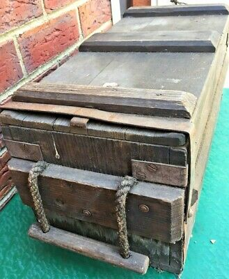 Army Ammunition  Box  Wooden Old Military  Vintage Antique
