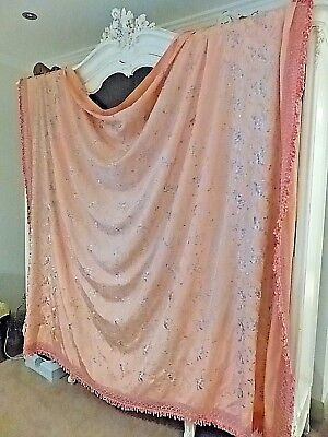 Unusual Vintage Italian  Bed Cover Or Bedspread With Embroidered Birds